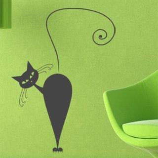 Samolepka na zeď Kočka 006 - 60x84 cm