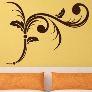 Samolepka na zeď Ornamenty z rostlin 006 - 80x60 cm