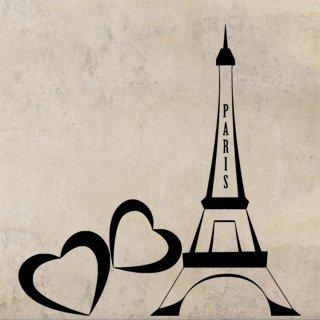 Samolepka na zeď Eiffelova věž 0307 - 60x63 cm