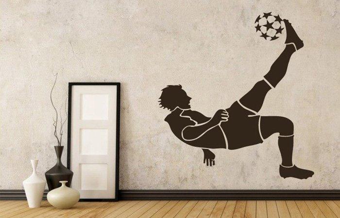 Samolepka na zeď fotbalista pro každého milovníka fotbalu
