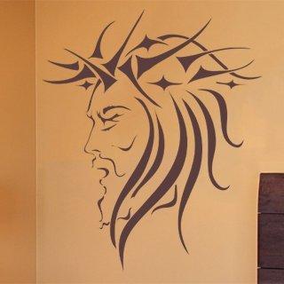 Samolepka na stěnu Tvář 001 - 120x128 cm