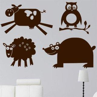 Samolepící dekorace Zvířátka 001 - 120x84 cm