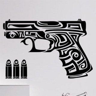 Samolepka na zeď Pistole 0238 - 91x60 cm