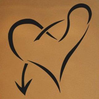 Samolepka na zeď Srdce 006 - 60x67 cm