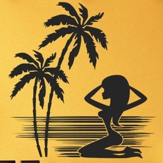 Samolepící dekorace Kráska na pláži 001 - 120x126 cm
