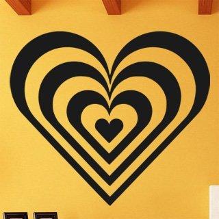 Samolepka na stěnu Srdce 008 - 138x120 cm
