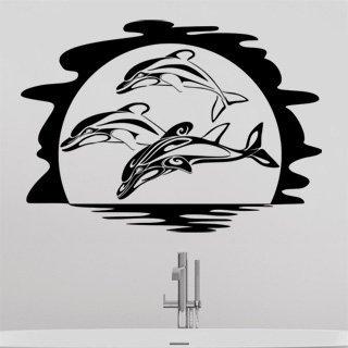 Samolepka na zeď Delfíni 002 - 86x60 cm