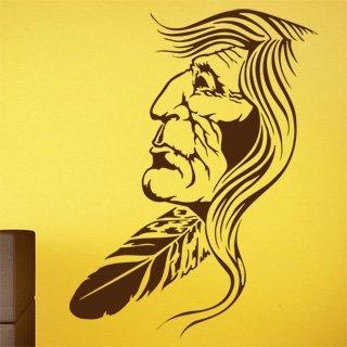 Nálepka na zeď Indián 001 - 100x133 cm