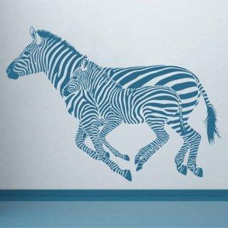 Samolepka na zeď Zebra 001 - 120x86 cm