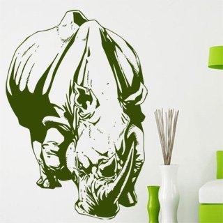 Samolepka na zeď Nosorožec 003 - 81x120 cm
