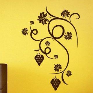 Nálepka na zeď Hroznové víno 001 - 120x172 cm