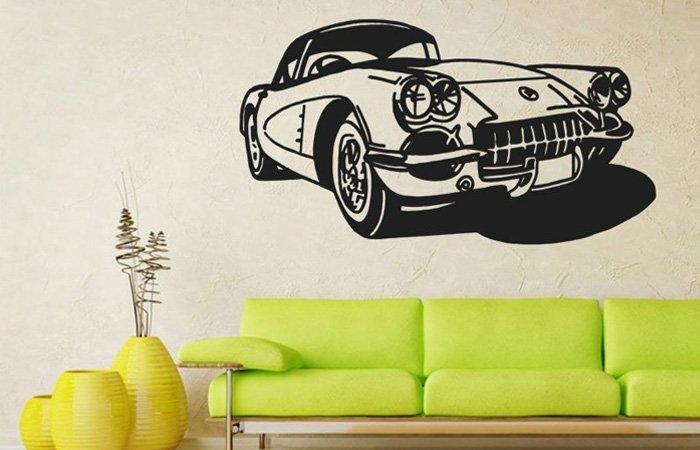 6 nejlepších samolepek na zeď pro milovníka aut
