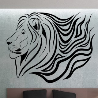 Nálepka na zeď Lev 013 - 125x100 cm