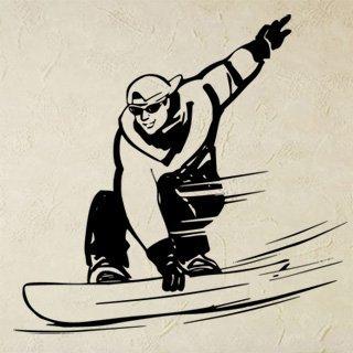 Samolepka na zeď Snowboardista 004 - 64x60 cm