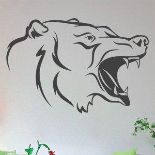 Samolepka na zeď Medvěd 002 - 90x60 cm