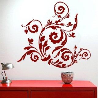 Samolepka na zeď Ornamenty z rostlin 010 - 90x80 cm
