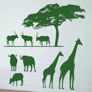 Nálepka na zeď Africké zátiší 001 - 126x120 cm