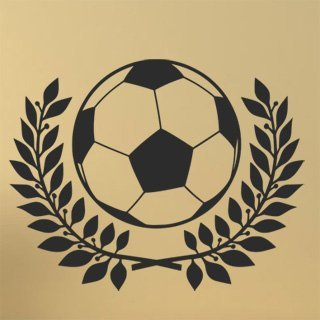Samolepící dekorace Fotbalový míč 002 - 120x94 cm