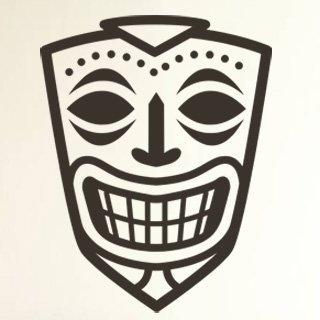Nálepka na zeď Maska 004 - 100x129 cm