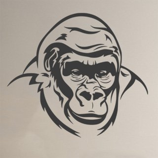 Samolepka Gorila 002 - 91x80 cm