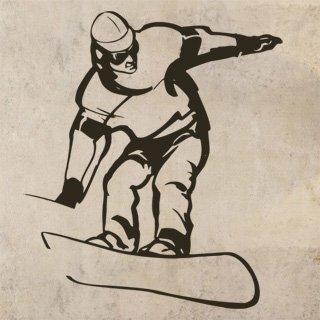 Nálepka na zeď Snowboardista 006 - 120x139 cm
