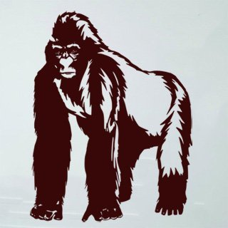 Samolepící dekorace Gorila 001 - 93x120 cm