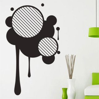 Samolepící dekorace Kruhy 003 - 80x134 cm