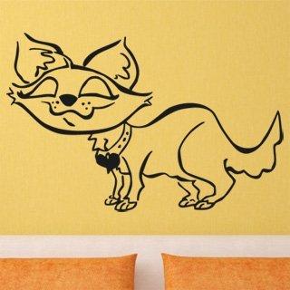 Samolepka na zeď Kočička 006 - 93x60 cm