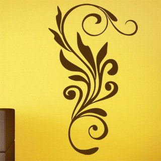 Nálepka na zeď Ornamenty z rostlin 009 - 120x204 cm