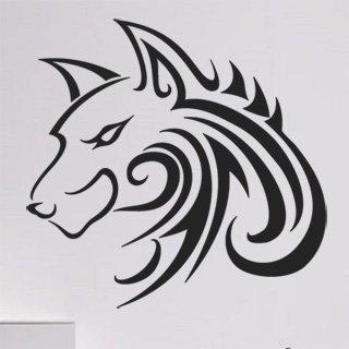 Nálepka na zeď Vlk 001 - 120x115 cm