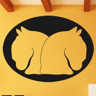 Samolepka na stěnu Dva koně 0405 - 165x120 cm