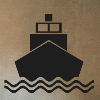 Nálepka na zeď Loď 007 - 120x106 cm