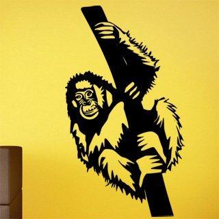 Samolepka na stěnu Opice 001 - 120x213 cm