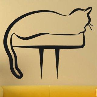 Nálepka na zeď Kočka 0444 - 149x120 cm