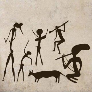 Samolepka Jeskynní lidé 001 - 120x86 cm