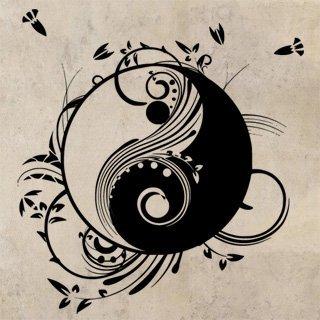 Samolepka Jing Jang 0194 - 114x120 cm