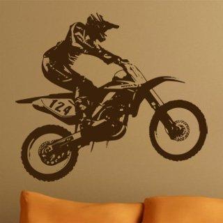 Nálepka na zeď Motorka 005 - 138x120 cm