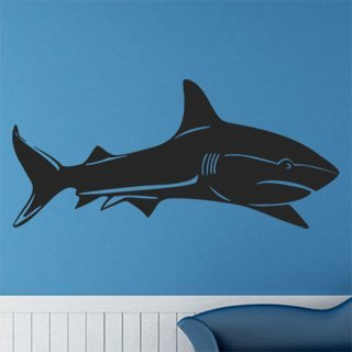 Samolepka na zeď Žralok 004 - 120x56 cm