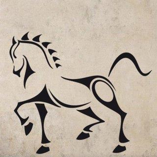 Nálepka na zeď Kůň 001 - 140x120 cm