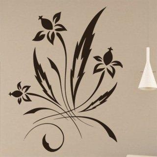 Samolepka na stěnu Ornamenty z rostlin 036 - 120x153 cm