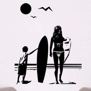 Samolepka na zeď Pláž 001 - 83x100 cm