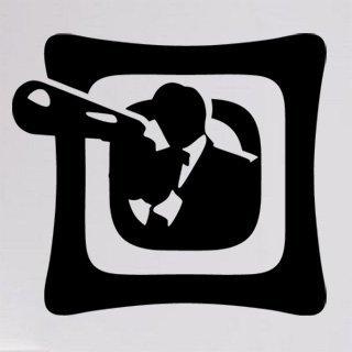Samolepka na zeď Gangster 001 - 67x60 cm