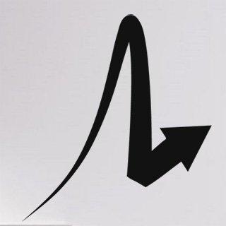 Samolepící dekorace Šipka 029 - 100x110 cm