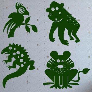 Samolepící dekorace Zvířátka 002 - 123x120 cm