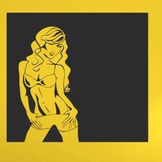 Samolepící dekorace Sexy žena 011 - 120x120 cm