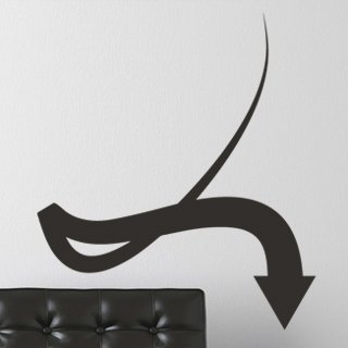 Nálepka na zeď Šipka 032 - 106x120 cm