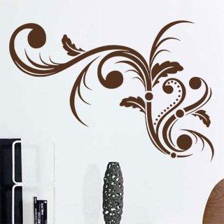 Samolepící dekorace Ornamenty z rostlin 005 - 145x100 cm