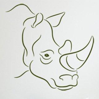 Nálepka na zeď Nosorožec 002 - 124x120 cm