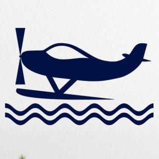 Samolepka na zeď Letadlo 012 - 92x60 cm