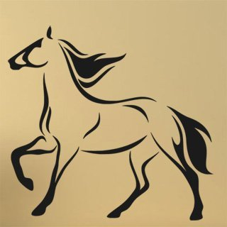 Samolepka na zeď Kůň 020 - 64x60 cm